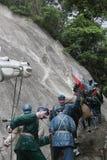 La statue du groupe d'A de troupes de l'armée rouges croisant les montagnes neigeuses dans le ¼ Œshenzhen, porcelaine de Parkï d' Photographie stock libre de droits