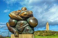 La statue du ³ n de Carà Photo libre de droits