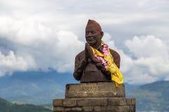 La statue du premier adjoint au ministre de la défense élu Min Bahadur Images stock