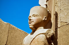 La statue du Re d'Amun à Luxor Photos libres de droits