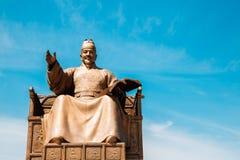 La statue du Roi Sejong à la place de Gwanghwamun à Séoul, Corée image stock