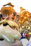 La statue et la lumière animales décorent beau sur des célébrations de Noël Photo stock