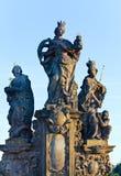 La statue sur la passerelle de Charles (Prague, tchèques). Photos stock
