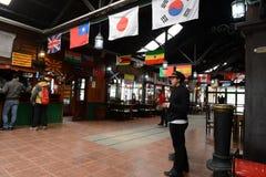 La stazione è la ferrovia più a sud nel mondo Fotografie Stock