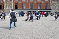 La stazione a Amsterdam Fotografia Stock
