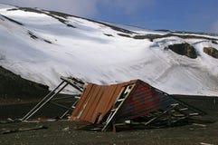 La stazione di caccia alla balena rovina l'Antartide Fotografie Stock
