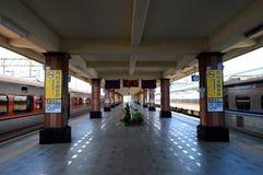 La stazione ferroviaria Fotografia Stock