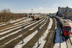 La stazione ferroviaria Fotografia Stock Libera da Diritti