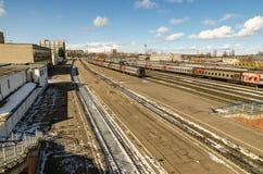 La stazione ferroviaria Fotografie Stock