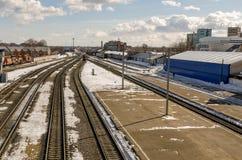 La stazione ferroviaria Immagini Stock