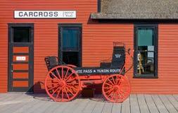 La stazione ferroviaria ai carcross, Alaska immagine stock