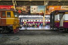 La stazione ferroviaria a Bangkok Immagini Stock Libere da Diritti