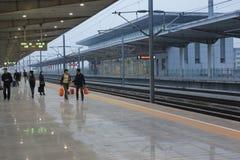 La stazione ferroviaria del sud di Kunshan Fotografie Stock