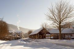 La stazione ferroviaria nella città della stazione termale di Bodenmais in Baviera Fotografia Stock