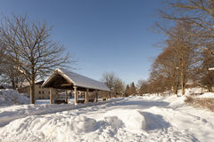 La stazione ferroviaria nella città della stazione termale di Bodenmais in Baviera Immagini Stock