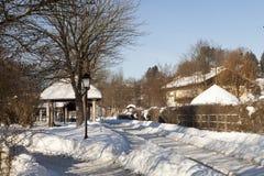 La stazione ferroviaria nella città della stazione termale di Bodenmais in Baviera Immagine Stock