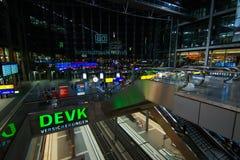 La stazione ferroviaria principale di Berlino Fotografie Stock