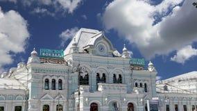 La stazione ferroviaria Rizhsky vokzal, stazione di Rizhsky di Riga è una delle nove stazioni ferroviarie principali a Mosca, Rus archivi video