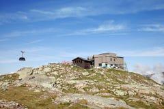 La stazione media della cabina di funivia di Aiguille du Midi, Francia Fotografie Stock