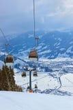 La stazione sciistica delle montagne Zell-essere-Vede l'Austria Fotografia Stock Libera da Diritti