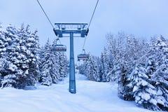 La stazione sciistica delle montagne Zell-essere-Vede l'Austria Fotografie Stock Libere da Diritti