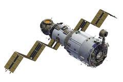 La stazione spaziale spiega i pannelli solari Fotografie Stock Libere da Diritti