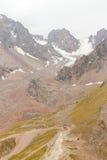 La stazione superiore della stazione sciistica Chimbulak e delle viste del ghiacciaio Immagine Stock Libera da Diritti