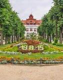 La stazione termale di Elizabeth a Karlovy Vary, repubblica Ceca immagine stock