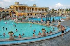 La stazione termale di Szechenyi a Budapest fotografia stock