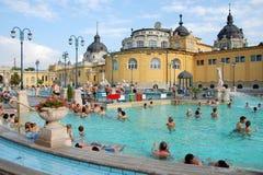 La stazione termale di Szechenyi a Budapest fotografie stock libere da diritti