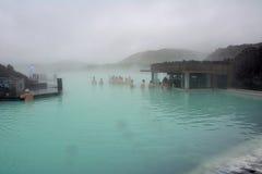 La stazione termale geotermica della laguna di Bue Fotografie Stock