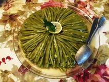 La stella dei fagioli turchi di cucina con olio d'oliva, utile agli entrambi soddisfare all'occhio, stomaco Immagine Stock