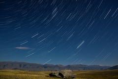 La stella delle montagne segue il cielo della nuvola Immagine Stock