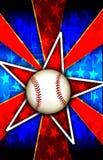 La stella di baseball ha scoppiato il colore rosso Immagini Stock