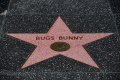 La stella di Bugs Bunny a Hollywood Fotografia Stock