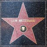 La stella di Lew Wasserman sulla passeggiata di Hollywood di fama Fotografia Stock