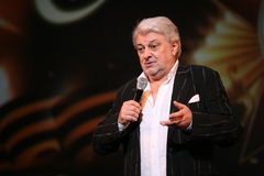 La stella di musica russa e sovietica, idolo di musica popolare, ha onorato l'uomo, milionario, autore, cantante, compositore Vya immagine stock libera da diritti