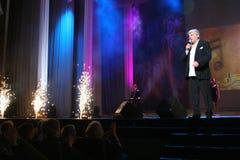 La stella di musica russa e sovietica, idolo di musica popolare, ha onorato l'uomo, milionario, autore, cantante, compositore Vya Fotografie Stock Libere da Diritti