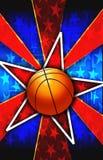 La stella di pallacanestro ha scoppiato il colore rosso illustrazione vettoriale