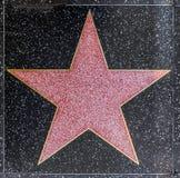 La stella di Xxx sulla passeggiata di Hollywood Immagine Stock