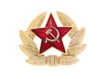 La stella e l'alloro sovietici (dell'URSS) si avvolgono Fotografia Stock Libera da Diritti