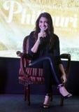"""La stella eccellente Anushka Sharma di Bollywood promuove il suo  imminente del """"Phillauri†di film a Bhopal Immagine Stock"""