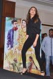 """La stella eccellente Anushka Sharma di Bollywood promuove il suo  imminente del """"Phillauri†di film a Bhopal Immagini Stock"""