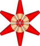 La stella fatta delle matite rosse Fotografia Stock Libera da Diritti