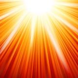 La stella ha scoppiato il fuoco rosso e giallo. ENV 10 Immagine Stock Libera da Diritti