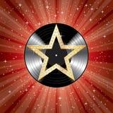 La stella ha scoppiato LP rosso illustrazione vettoriale