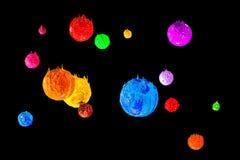 La stella nell'universo spazio profondo dell'inchiostro del plastisol Fotografie Stock