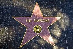 La stella per il Simpsons sopra Immagini Stock Libere da Diritti