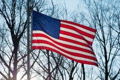 La stella Spangled la bandiera Fotografie Stock