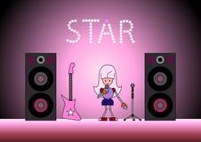 La stella sulla fase Immagine Stock
